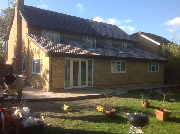 Rear extension and patio